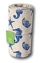 Natural Woven Nautical Sea Creatures Craft Ribbon Roll - 5.5 in. x 10 ft.