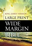 KJV Large Print Wide Margin Bible: Hardcover