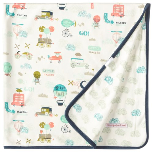 Magnificent Baby Baby-Boys Newborn Reversible Blanket, Vintage Transport, One Size Months