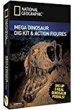 Mega Dinosaur Dig - 2 Dino Action Figures and Real Fossil Dig