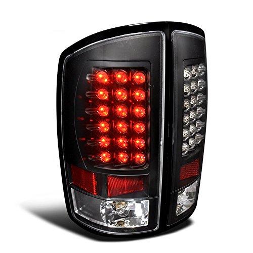 Spec-D Tuning LT-RAM02JMLED-TM Dodge Ram 1500 2500 3500 Black Led Tail Lights (2002 Dodge Ram 1500 Cab Lights compare prices)