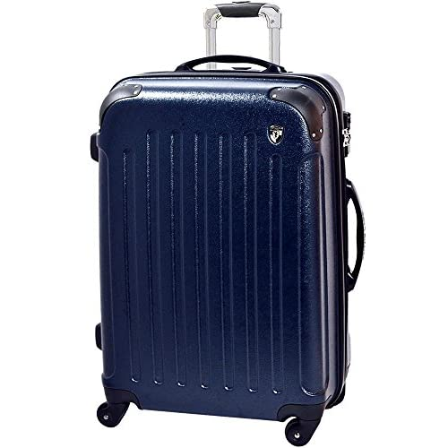[グリフィンランド]_Griffinland_TSAロック搭載 スーツケース newFK10371 ファスナー開閉式 (S(小)型, ネイビー)