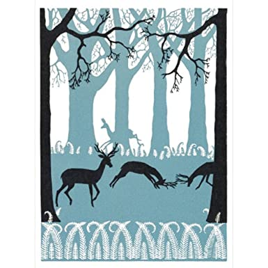 Winter Deer Pack of 10 Christmas Cards (Large Rectangle)||RF10F