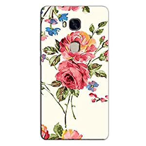 FLORAL CANVAS BACK COVER FOR HONOR 5X