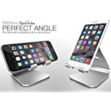 iPhone Stand, Spinido® Titop Series Magnesium-aluminium Alloy phone Stand for Desk Compatible With All iPhone (iPhone 5 iPhone5S iPhone6 & iPhone6 Plus) and Samsung Galaxy Tab S5 S6 Edge Note 2/3/4 phone dock (Silver)