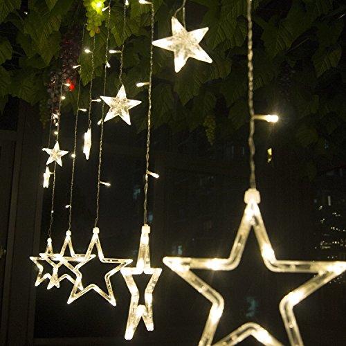 led-curtain-lightskingcoor-waterproof-8-modes-138-leds-12-star-christmas-fairy-window-curtain-icicle
