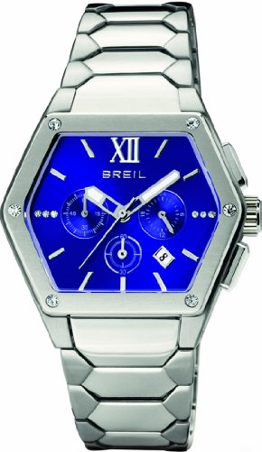 Breil Women's Watch Analogue Quartz TW0666 Silver Stainless Steel Strap Blue Dial