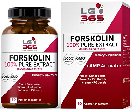 LG365 Forskolin for Weight Loss Pills, Pure Extract High Grade Dietary Supplement to Control Weight, Best Belly Fat Buster, cAMP Molecule Activator (Forskoline Extract compare prices)