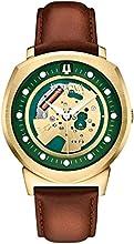 Comprar Bulova Accutron II- Chaqueta UHF - Reloj analógico con esfera verde y correa de cuero