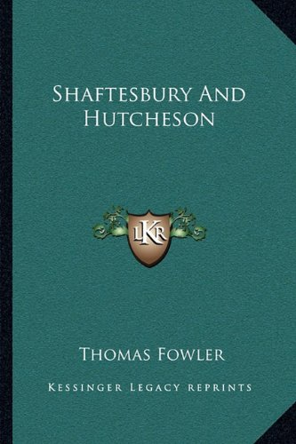 Shaftesbury and Hutcheson