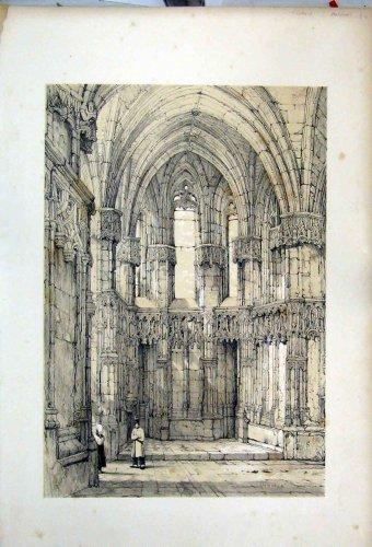 Scene Church Amboise France 1855 Charles Wickes Print
