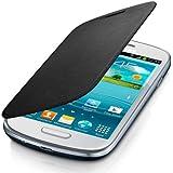 Flip Cover per Samsung Galaxy S III 3 S3 Mini i8190 protezione - Nera + Pellicola Omaggio