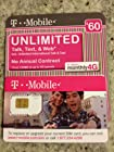 $60 T-Mobile Prepaid SIM Card Unlimited Talk