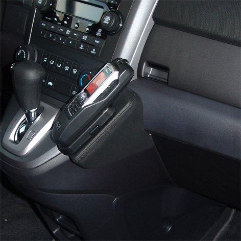 kuda-telefon-konsole-passend-fur-honda-cr-v-ab-2007-mobilia-kunstleder-schwarz