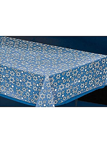 Star of David 54in x 108in Plastic Table Cover - 1