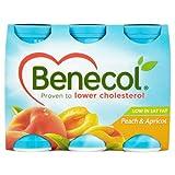 Benecol Cholesterol Lowering Yogurt Drink Peach & Apricot 6 x 67.5g