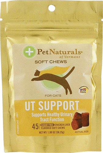 Pet Naturals of Vermont UT Support for Cats Chicken Liver -- 45 Soft Chews(pack of 2) swisse natural sourced from soybeans lecithin support liver health