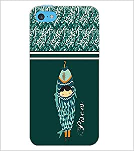 PrintDhaba Zodiac Pisces D-2740 Back Case Cover for APPLE IPHONE 5C (Multi-Coloured)