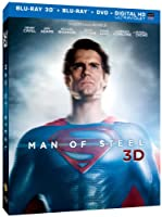 Man of Steel (Blu-ray 3D + Blu-ray + DVD + Digital HD with UltraViolet) from Warner Home Video