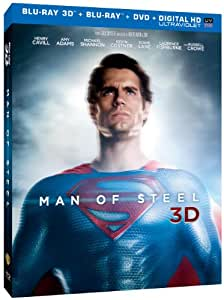Man of Steel (3D Blu-ray + Blu-ray + DVD +UltraViolet Combo Pack)