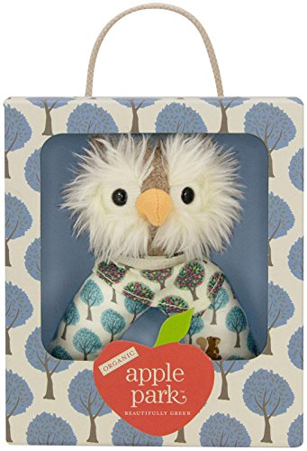 Apple Park Organic Patterned Rattle - Owl