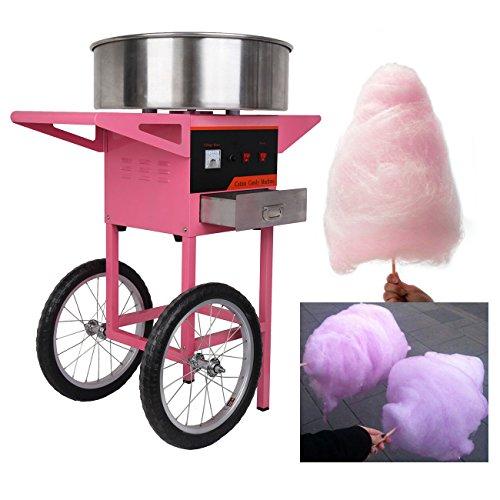 Ridgeyard 1030W 2 roues utilisation commerciale Cotton Candy Fairy Floss Maker Machine panier Accueil Birthday Party de cuisine Snack bricolage