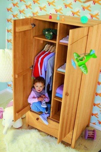 BioKinder 22157 Luca Schrank Kinder-Kleiderschrank aus Massivholz Erle 165 x 80 x 60 cm jetzt bestellen