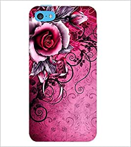 PrintDhaba Flower Bunch D-1159 Back Case Cover for APPLE IPHONE 5C (Multi-Coloured)