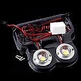 車 トラック 2 LED 丸型 ストロボ フラッシュ 緊急 ドライビング ホワイト 12V 5W ライト