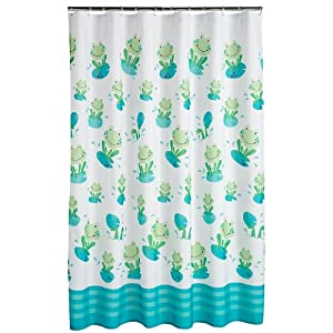 Fun frog blue shower curtain shop kids parenting family kaboodle