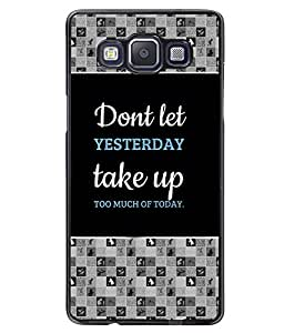 PRINTVISA Too Much Of Today Premium Metallic Insert Back Case Cover for Samsung Galaxy A5 - A500F - D5801