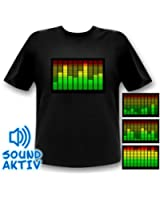 10-Kanal Equalizer T-Shirt Mann LED-Shirt Tshirt Leuchtshirt