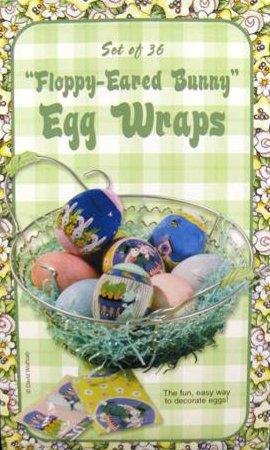 Floppy Eared Bunny Easter Egg Wraps - Set of 36
