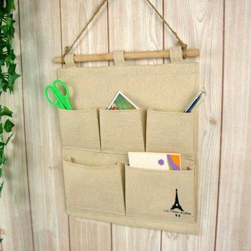 Best Deal Fashion 5-Pockets Textile Hanging Storage Bag,Home ...
