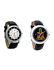 Gledati Men's Black Dial And Foster's Women's Black Dial Analog Watch Combo_ADCOMB0001847