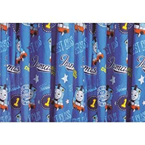 Childrens/Kids Boys Thomas The Tank Engine Bedroom Curtain Set