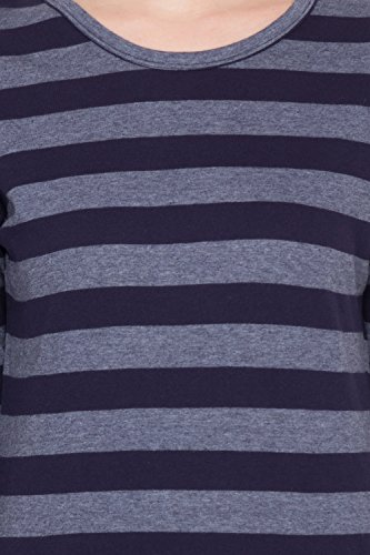 Hypernation-Blue-and-Grey-Stripped-T-Shirt-for-Women
