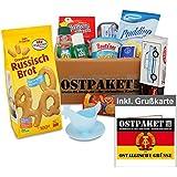 """Ostpaket """"Mini"""" mit 11 typischen Produkten der DDR inkl. Grußkarte """"Ostalgische Grüße"""" gratis, Geschenkset Ostprodukte DDR - Geschenkidee"""