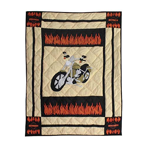 Patch Magic Motor Cycle Quilt Crib, 36 by 46-Inch - 1