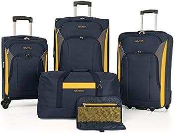 Nautica 5-Piece Spinner Luggage Set
