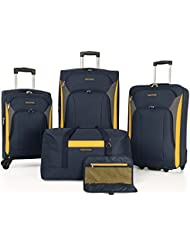 Nautica 5-Piece Spinner Luggage Set