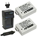 Wasabi Power Battery (2-Pack) and Charger for Canon LP-E8 and Canon EOS 550D, EOS 600D, EOS 700D, EOS Rebel T2i, EOS Rebel T3i, EOS Rebel T4i, EOS Rebel T5i