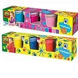 SES 00305 00304 8er Set Kinder Fingermalfarben auswaschbare Fingerfarben Farbset von SES