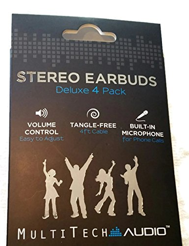 stereo-earbuds-set-of-4-in-black-blue-pink-and-green-with-adjustable-volume-control-and-built-in-mic