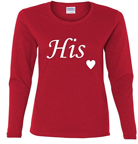 Valentine's Day His Heart Love Ladies Missy Fit long sleeve T-Shirt