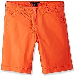 Gant Women's Cotton Shorts (GWHFF0002_Flame Scarlet_32)