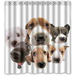 Puppy Head Larger Photo Funny Dog Custom Shower Curtain 66