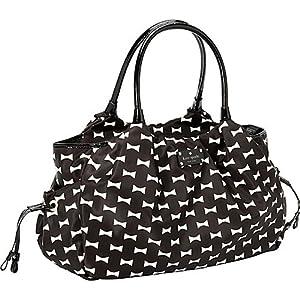 Kate Spade Bow Shoppe Stevie Baby Bag Black Cream from kate spade