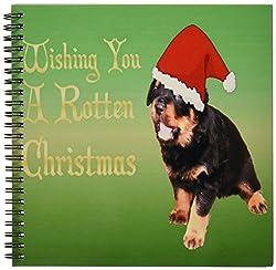 3dRose db_46905_1 Rotten Christmas-Rottweiler, Rottweilers, Rottie, Rotties, Rottie Owner, Rottweile