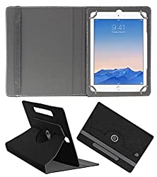 Acm Designer Rotating Case For Apple Ipad Air 2 Stand Cover Black